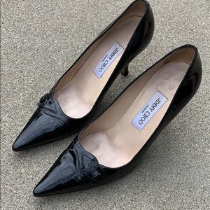 Jimmy Choo Black Patent Stilettos 38 (US 8)